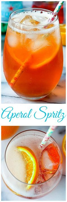 The Aperol Spritz - the classic Italian drink! SO refreshing!