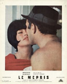 Promotional poster forLe Mépris,Jean-Luc Godard (1963)