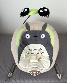 Cation Designs: The Geekiest Baby: Totoro-Themed Bouncer (In case Carl's best man ever reproduces…)