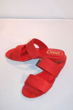0d7949638b343 Sandals · Circus by Sam Edelman Womens Delaney Slide Red Size 7.5M NWOB   fashion  clothing