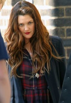 Glowing on set: Drew Barrymore starts shooting new movie Miss You Already in South London