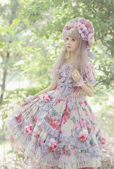 [-❤-Angelic Pretty Menuet Bouquet OP. Color: Lavender-❤-]