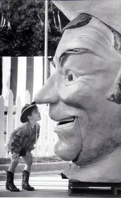 Not Santa any longer, the colossal, talking head is now part of Big Tex and the…