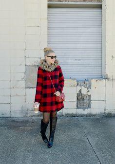 Plaid Fur Trimmed Coat by Fash Boulevard on LaurenConrad.com