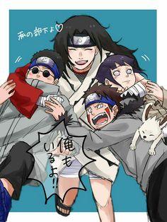 Team Kurenai sensei, Shino, Kiba and Hinata Naruto Shippuden Sasuke, Anime Naruto, Naruto Fan Art, Naruto Comic, Team 8 Naruto, Naruto Cute, Shikamaru, Hinata Hyuga, Otaku Anime