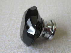 Black Glass Knobs / Dresser Knobs / Drawer Knobs by LynnsHardware, $7.00