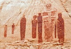 At Utah's Canyonlands National Park, on a remote sandstone wall, limbless anthropomorphic figures look down like sentries on tourists and archaeologists alike. The orange-colored wraiths had, originally, been thought to be as much as 7,000 years old, but new testing has revealed a very different picture. It's one of the most iconic works of Ancient American art. The figures are larger-than-life size, and are considered the defining example of Barrier Canyon style. It's called the Great…