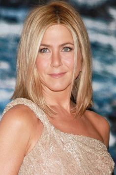 MAKING THE CUT: Face Type: Square Jaw    If you prefer wearing your hair straight like Jennifer Aniston, Campbell recommends side-parting it.