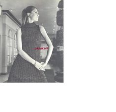 Knitting Pattern  Vintage Retro Shell Top and Skirt  by carolrosa