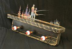 HandMade Rustic Fishing Themed Coat Rack with by MossFarmDesigns, $85.00