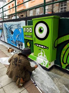 animierte Street Art: A.L. Crego