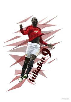 Lukaku - Manchester United Art by Armaan. Design available on T shirts and more! #lukaku #mufc #art