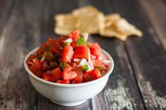 Watermelon Salsa by EclecticRecipes.com #recipe
