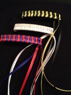 80's throwback ribbon barrettes