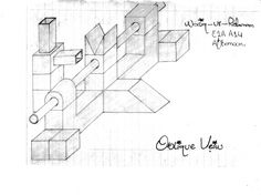 Isometric and Oblique Difference Oblique Drawing, Different, Engineering, Diagram, Drawings, Art, Art Background, Kunst, Sketches