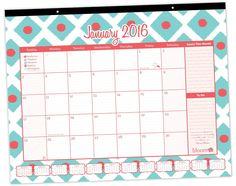 2016 Calendar Year Desk Calendar - Ikat Diamonds