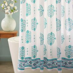 Mirror Paisley Shower Curtain | VivaTerra