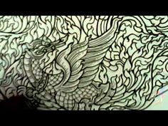 A pattern Thailand-DemonstratE Draw Thai Painting No.2 - YouTube.