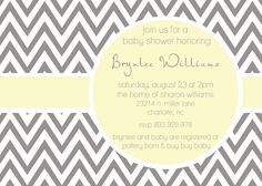 Items similar to Brynlee- Custom Modern ZigZag Baby Shower Invitation in bold colors on Etsy Sprinkle Invitations, Baby Shower Invitations, Sharon Williams, Grey Pictures, Next Wedding, Wedding Reception, Buy Buy Baby, Diy Cards, Baby Shower Decorations