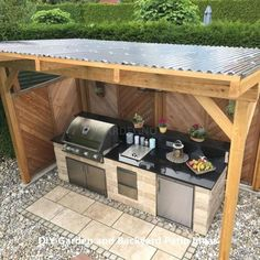 10 Outdoor Kitchen Ideas and Design - Trend Outdoor Küche –. Informations About 10 Outdoor Kitchen Ideas and Design - Trend Outdoor Küche – unser Ratgebe Outdoor Kitchen Patio, Outdoor Kitchen Design, Outdoor Living, Outdoor Decor, Outdoor Grill Area, Outdoor Ideas, Small Outdoor Kitchens, Outdoor Cooking Area, Diy Bbq Area
