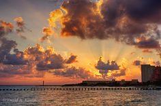 Caribbean Sunrise over Punta Cancun by David Kamm on 500px