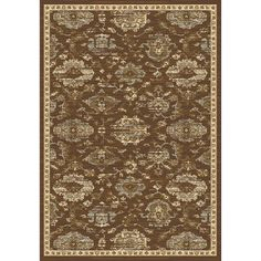 "Charlton Home Lavelle Brown/Ivory Area Rug Rug Size: 5'3"" x 7'6"""