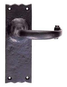 Polished Brass Lock Door Handles *NEW* Ashtead DL17 Pair