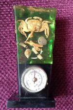Gorgeous Vintage SEASCAPE PLASTIC PERSPEX Lucite RESIN With Thermometer