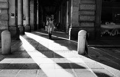 https://flic.kr/p/GDv1JE   Giulia Bergonzoni photography #light #shadow #street #photographers #giulia #bergonzoni #zebra #road #people #black #white