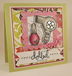 Eclectic Paperie: All Dolled Up, by Kim Schofield using Authentique papers and Sweet Stamp Shop stamps.