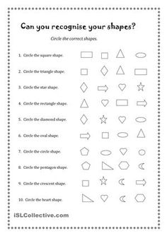 Can you recognise your shapes?