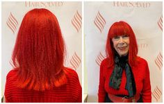 We love this Fire Red colour, chosen by our client, Beryl. She is an actress and model and loves to stand out from the crowd. #RedHair #HairSolved