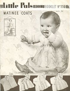 vintage baby knit lace pattern matinee coats, jacket, cardigan