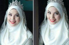 Pretty bride with hijab & tiara [asphere photography]