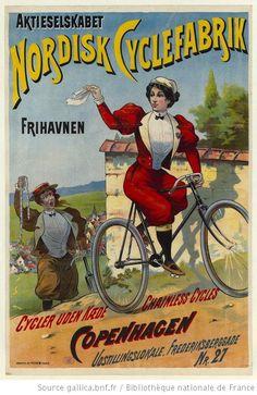 1895 C Nordisk Cyclefabrik BICYCLETTE SANS CHAINE ... Copenhagen...
