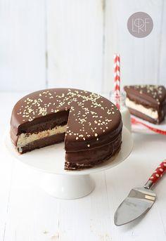 Tarta helada de chocolate y vainilla | Passion ...