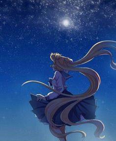 beautiful sailor moon fan art looking up at the moon usagi drawing sketch painting Sailor Venus, Sailor Moons, Sailor Pluto, Sailor Moon Crystal, Arte Sailor Moon, Sailor Moon Fan Art, Sailor Moon Usagi, Sailor Jupiter, Sailor Moon Personajes