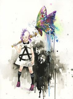 Oh man, I want this for a tattoo!! Maybe just a few changes. --Watercolor Art by Lora-Zombie