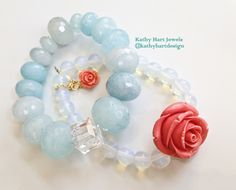 Kathy Hart Jewels #Natural Stone #Elastic #Beaded #Bracelet #Handmade #Custom #Accessories #Jewelry #Designer #Trendy #Fashion #Style #Spring