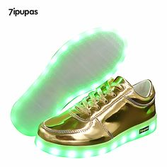 Cool 7ipupas NEW children Led sneakers USB charging kids LED luminous Gold shoes boys girls of colorful flashing lights up sneakers - $ - Buy it Now! Check more at http://kidshopglobal.com/kids-and-baby-shop-online/shoes/childrens-shoes/girls/7ipupas-new-children-led-sneakers-usb-charging-kids-led-luminous-gold-shoes-boys-girls-of-colorful-flashing-lights-up-sneakers/