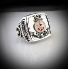 HMAS Sydney Shiups Crest Ring http://silverhandicraftchiangmai.com/product/product_info.php?products_id=999