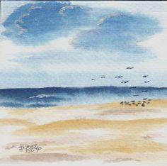 """Watercolor ~ by Debra Estep  4 x 4"""""""