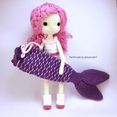 Mermaid Ava done by pattern buyer, @evansabril . Beautiful