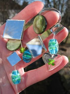 Four Leaf Clover Irish Sun Catcher https://www.etsy.com/listing/91833375/real-4-leaf-clover-irish-heart-sun?ref=v1_other_1