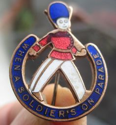 When A Soldiers on Parade Enamel 1930s Art Deco Miller Song Pin Brooch Badge | eBay