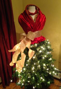 Dress Form/Mannequin Christmas Dress
