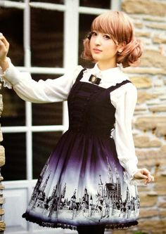 Gothic Lolita ~~ For more:  - ✯ http://www.pinterest.com/PinFantasy/lifestyles-~-lolita-style-fashion-and-fantasy/