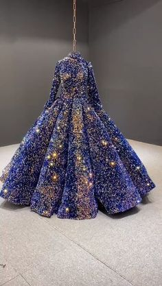 Royal blue long sleeve Quinceanera dress  Long sleeve blue sequin ball gown prom dress #couture #couturefashion #prom #fashion #princessdress #Blue #Dress #Long #Quinceanera #Royal #Sleeve