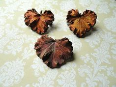 Woodland Jewelry Real Leaf Brooch/Pin by AmberIlysSteamcrafts