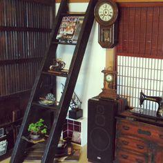chikaさんの、小民家風,観葉植物,植物,雑貨,アンティーク,棚,のお部屋写真